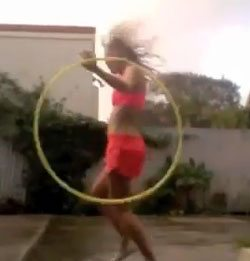 Winter Hoop Dance