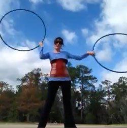 double hooping